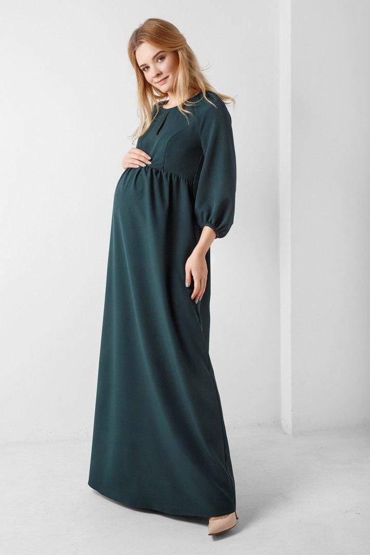 19971c1f0edc Платье в пол для беременности и кормления, зеленое, ТМ Dianora