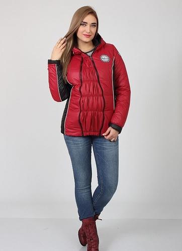 09f273ecd0e359e Теплая демисезонная куртка для беременных Lemma, ягодный+черный, ТМ Юла  Мама, S