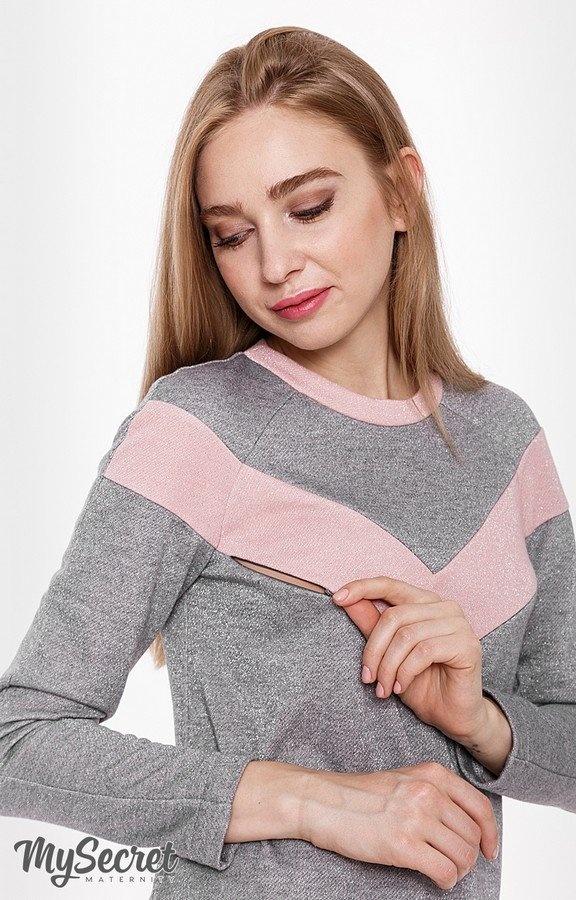 552f44670fa Теплое платье для беременных и кормящих BLANDO